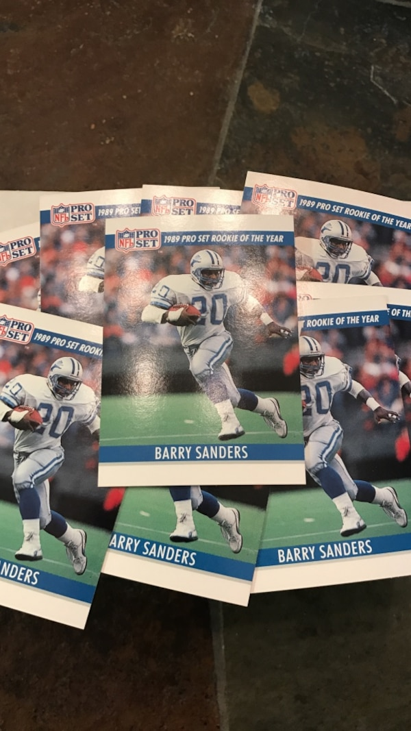 1990 Pro Set Barry Sanders Blank Back Cards
