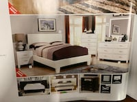 white wooden bed frame with dresser Federal Way, 98003