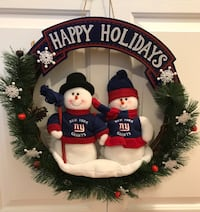two white snowman Happy Holiday wreath