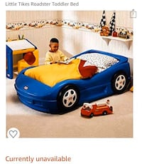 Little Tikes Sports Car toddler Bed (Blue)