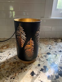 """Hurricane Black with wood base & Gold accents - 6"""" across x 10.5"""" tall Norristown, 19403"""