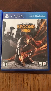 PS4 inFamous Second Son game case Lynwood, 90262