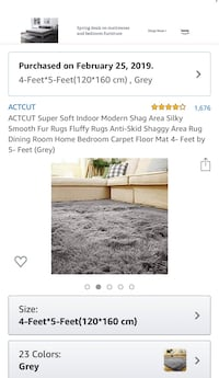 Gray rug unopened!  Arlington, 22201