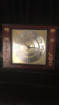 Brown bamboo frame wall clock Toronto, M3A 2R6