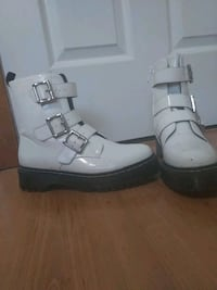 White combat boots from Nastygal