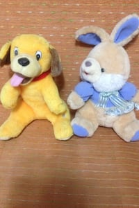 Yellow dog plush toy