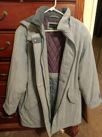 Bluish two toned and purple zip-up jacket Whittier