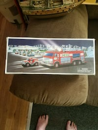 Emergency fire truck with vehicle