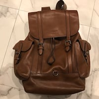 Coach all leather backpack. Paris, 75011