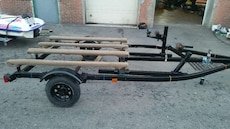 black boat trailer