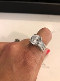 Rhodium plated over sterling silver CZ Caledon, L7C 1P2