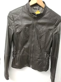 Leather brown women jacket. Size small Toronto