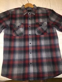 RVCA Rosewood flannel size M plaid button up sports shirt! Anaheim, 92801