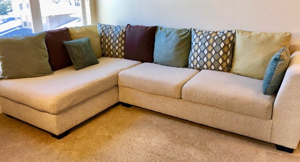 used ashley furniture casheral linen sectional sofa for sale in rh us letgo com