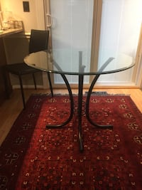 """Glass top dining table 36"""" round Sterling, 20165"""