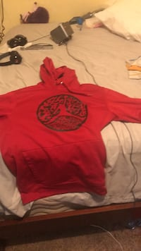 red and black pullover hoodie Austin, 78748
