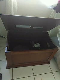 black and gray wooden TV stand Riverside