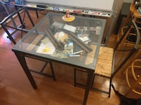 IKEA glass kitchen table + 2 chairs Arlington