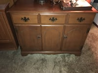 brown wooden 3-drawer chest West Warwick, 02893