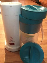 two blue and white iced tea maker 159 mi
