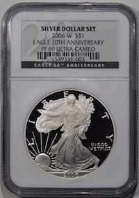 """2006-W $1 Silver Eagle NGC PF69 """"ULTRA CAMEO"""" Fort Lee, 07024"""