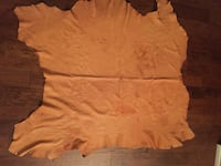"""Tanned elk leather hide (approx 50"""" x 50"""")"""