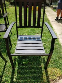4 Heavy metal outdoor chairs