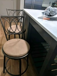 2 gorgeous kitchen stools/ chairs comfy and modern