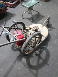 antique lawnmower