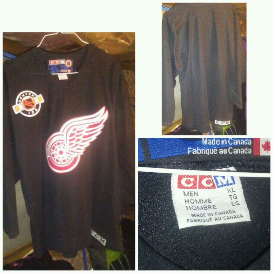 CCM Centre Ice Detroit Redwings Jersey