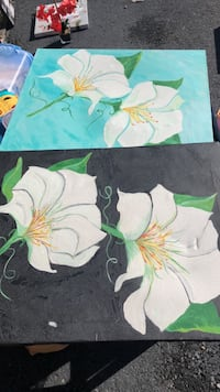 green and white floral painting Martinsburg, 25404