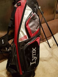 red and black Lynx golf bag (new) was 149.95