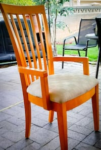 5 Blonde Solid Wood Chairs Sandy, 84094