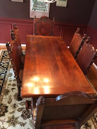 Solid Iron Wood Dining Table and Chairs Woodbridge, 22191