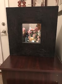 Black wooden rustic framed Mirror Gainesville, 20155