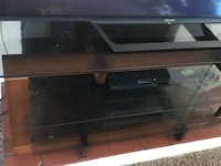 black wooden TV stand with flat screen television Youngstown, 44512