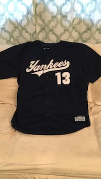 NY Yankees navy and white Rodriguez jersey, men's XL