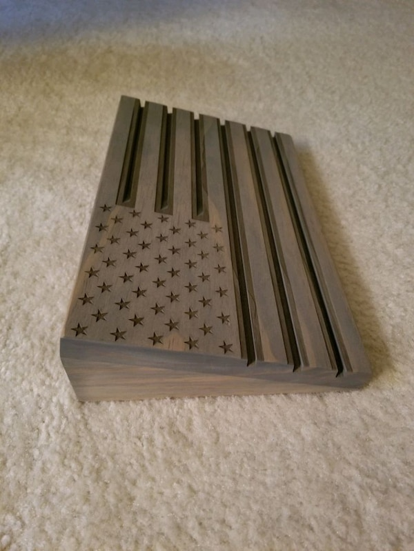 American Flag Coin Holder - Wooden ce8bc431-bcf6-4a55-8727-bea6c9ab594f