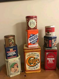 Vintage tins St. Catharines, L2S 4E1