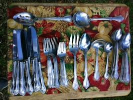 Japan Stainless Steel Flatware Service for 8