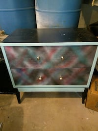Hand painted 2 drawer dresser Lethbridge, T1K 5N8