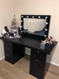 Black Hollywood Vanity Mirror Only! New XL Size! Los Angeles, 91367