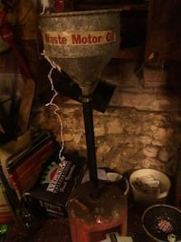 Catches your old motor oil