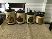 Four Tuscan themed kitchen canisters set Mount Airy, 21771