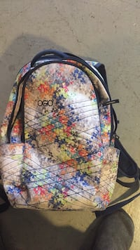 black, yellow, and red floral backpack Denver, 80231