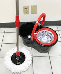 New $15 each Spin Mop 360 degree press mop bucket set with push and pull rotation Alhambra