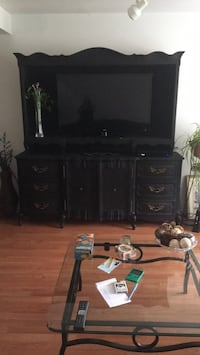 Vintage breakfront refinished with black chalk paint  Lafayette Hill, 19444