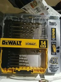 drill bit set.  dewalt. brand new as u can see.  stores sell for 65  London