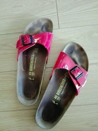 Bright red Birkenstock sandals size 40 woman