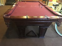 Black and brown billiard table Bellmore, 11710